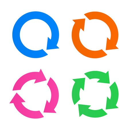Colorful arrow reload icons Çizim
