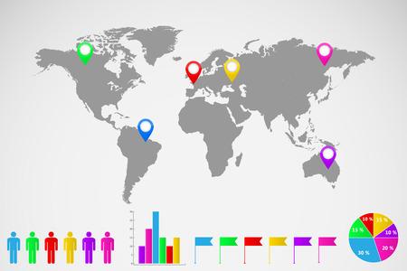 세계지도 인포 그래픽 그림