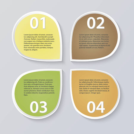 Modern infographics illustration Vector