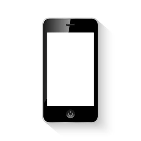 palmtop: Mobile smart phone vector illustration isolated
