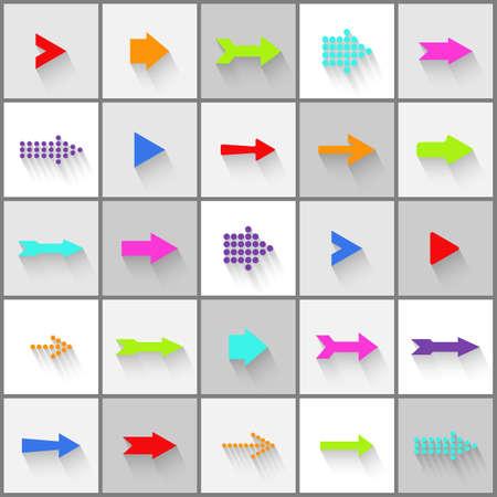 Arrow signs vector set Vector