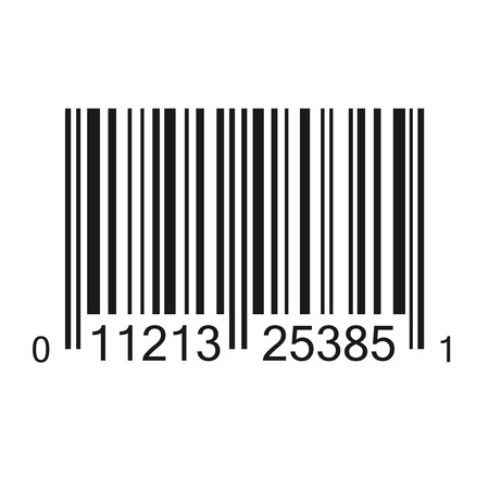 Bar code vector illustraion isolated Illusztráció