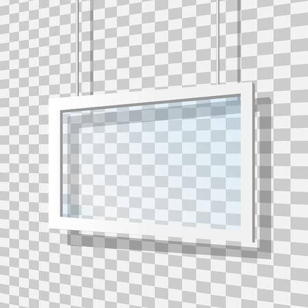 Glass frame vector illustration Vector