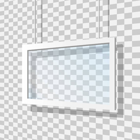Glass frame vector illustration Illustration