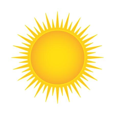 Sun vector illustration isolated Vettoriali