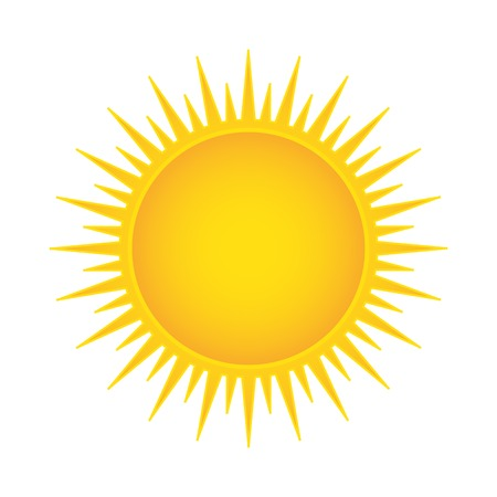 Sun vector illustration isolated Vector