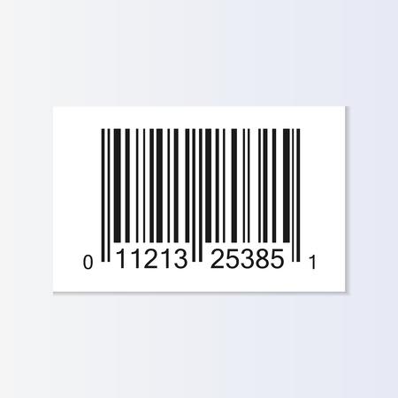 Bar code tag illustration isolated Illustration