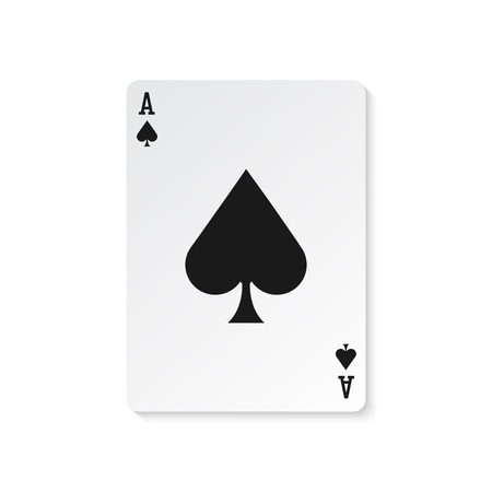 Ace of spades illustration isolated Illustration
