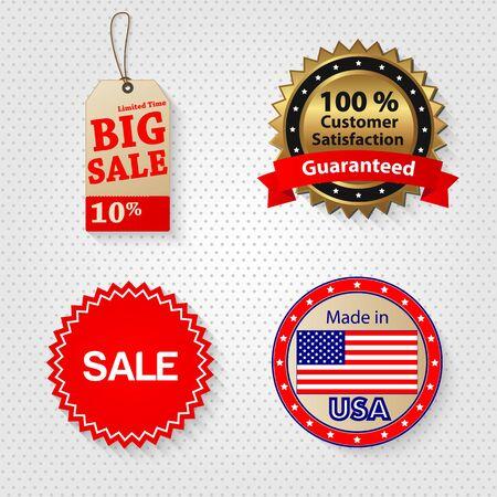 Retail sale tags illustration