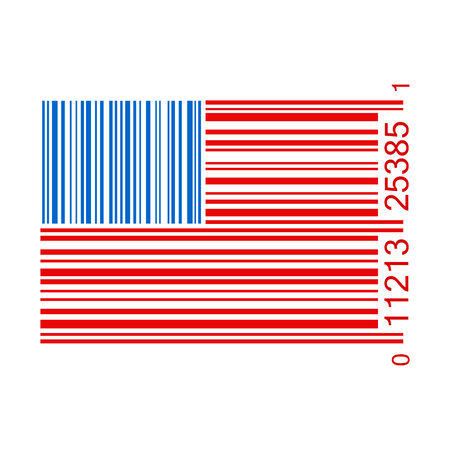 medical distribution: U.S. barcode vector illustration isolated