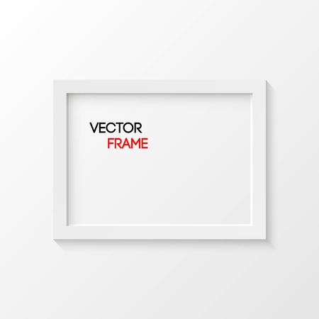 White frame vector illustraiton isolated Vector