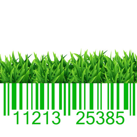 Bar code grass vector illustration Vector