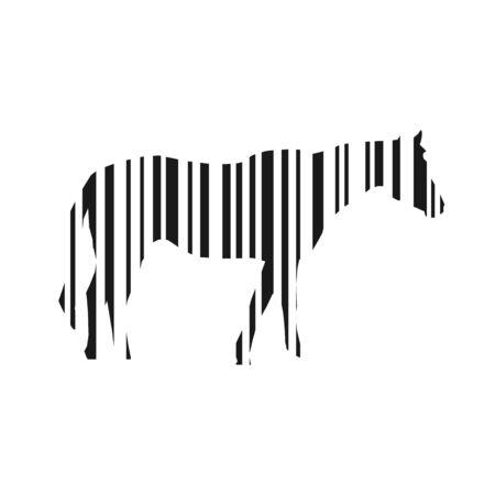 illustraiton: Bar code horse vector illustraiton Illustration