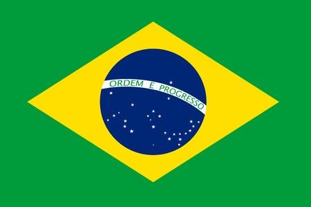 brasil: Brasil flag vector illustration