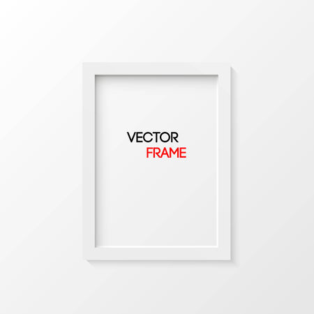 White frame vector illustration isolated Vector