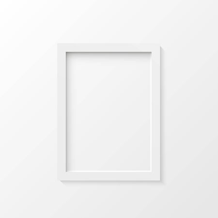White picture frame vector illustration Vector
