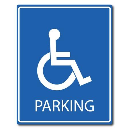 Handicap parking vector illustration