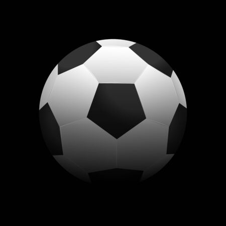 Soccer ball vector illustration on a dark background Çizim