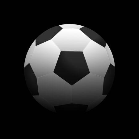 futbol: Soccer ball vector illustration on a dark background Illustration