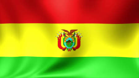 Bolivia national flag, new and different ripple effect. The is designed without angle.