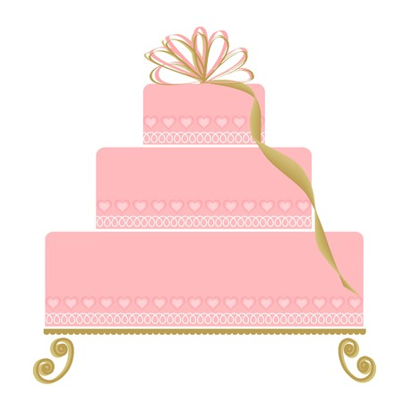Pink Special Occasion Cake Vector