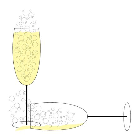 Spilled Champagne Vector