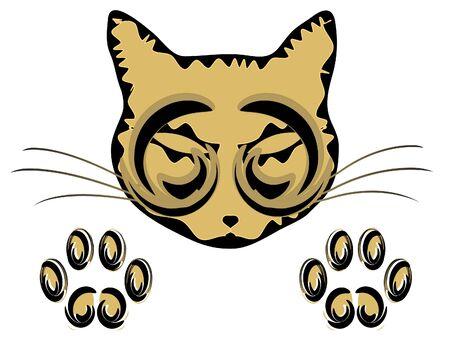 tiki head: Totem Cat