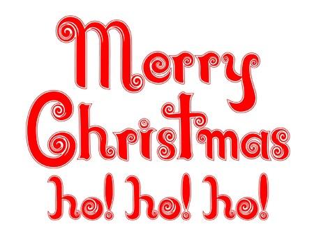 Merry Christmas ho! ho! ho! in an original  Peppermint Candy Cane Design Фото со стока