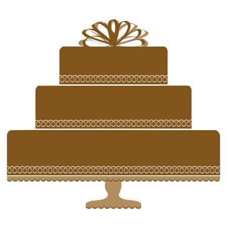 Chocoladecake op de Decoratieve Plaat van de Voetstukcake