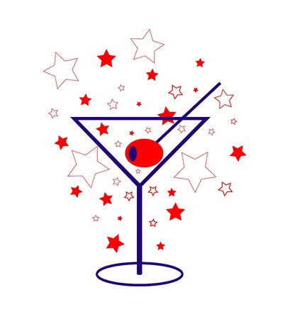 Patriotic Martini  Stock Vector - 7821314