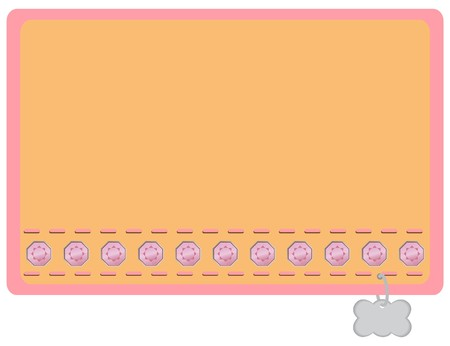 Pink and Orange with Pink Gemstones Dog Collar Designed Name Label Stock Vector - 7821327
