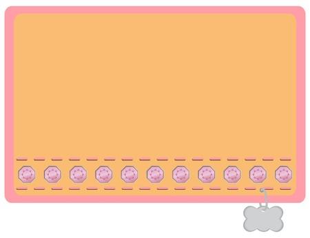 Pink and Orange with Pink Gemstones Dog Collar Designed Name Label Stock Vector - 7821327