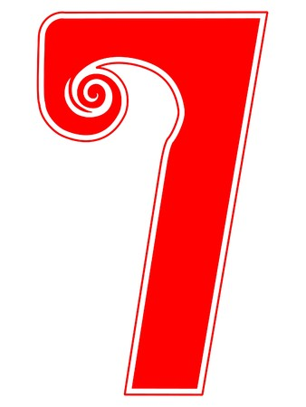 number seven: Peppermint Candy Cane Number Seven