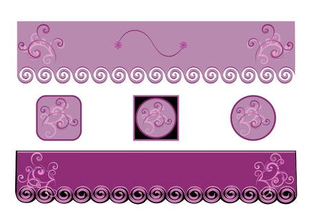 headliner: Two Purple Banners or Headliners with Buttons to Match