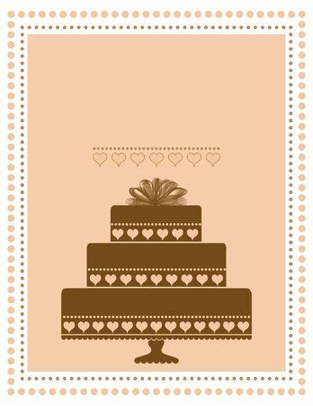 Chocoladecake uitnodiging, aankondiging of menu