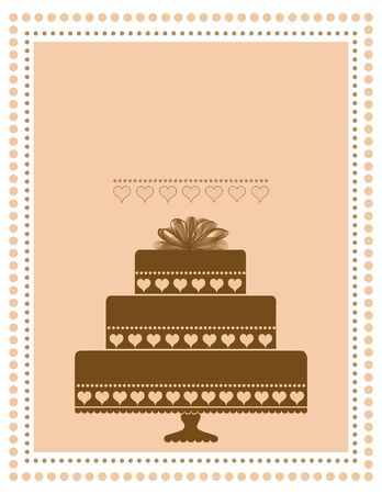 Chocolate Cake Invitation, Announcement, or Menu