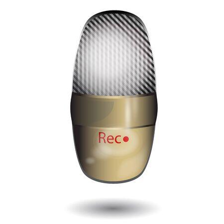 old radio: Old radio microphone icon on white background