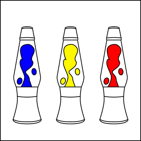 Lava-lamp for coloring book Illustration