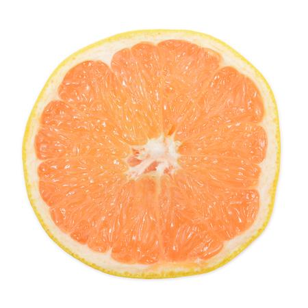 toronja: Cortar pomelo aislado en blanco vista desde arriba. imagen Pomelo. Pomelo Photo. Pomelo amarillo.