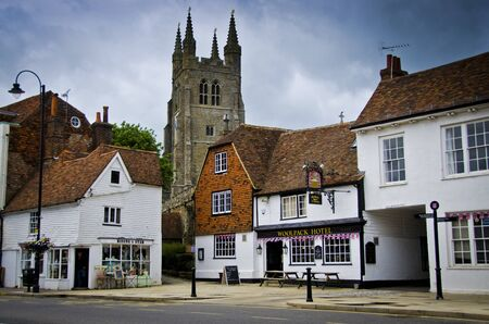 Tenterden High Street with church in background