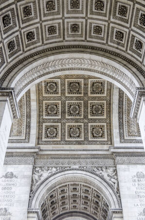 archtecture: Detailed view of the architecture on the ceiling.
