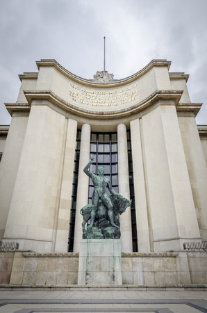 commissioned: Statue of Hercules wtih an ox outside the Palais De Chaillot (Trocadero), Paris, France.  Commissioned for the opening of the 1937 World Exposition in Paris.