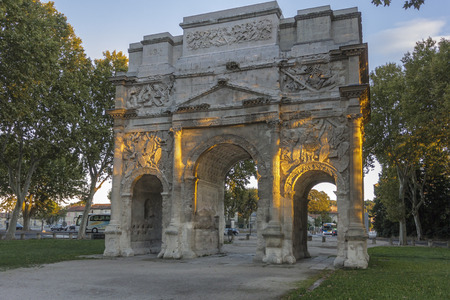 The Triumphal Arch of Orange is a triumphal arch located in the town of Orange, southeast France.