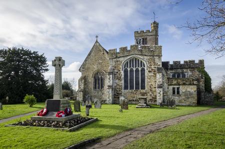 kent: All Saints church at Biddenden, Kent UK. Editorial