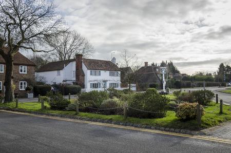 kent: Biddenden village green and cottages, Kent, UK