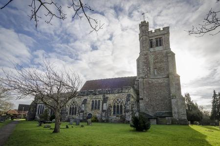 kent: All Saints church at Biddenden, Kent UK. Stock Photo