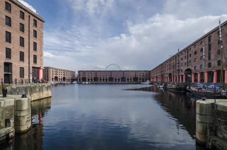 LIVERPOOL UK, MAY 6 2012: Entrance to Albert Dock,  Liverpool, UK
