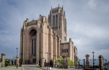LIVERPOOL UK, MAY 6 2012: Liverpool cathedral is the longest cathedral in the world with an external measurement of 189m