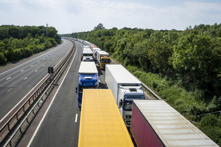 calais: Operation Stack is in place on the M20 on the hottest day of the year, due to the Port of Calais being closed because of industrial action launched by French ferry workers.