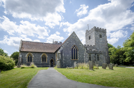 kent: Path leading to Chilham church, Kent, UK